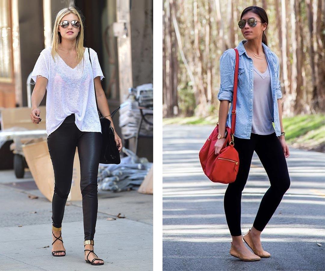 с майкой, футболкой, джинсовой рубашкой