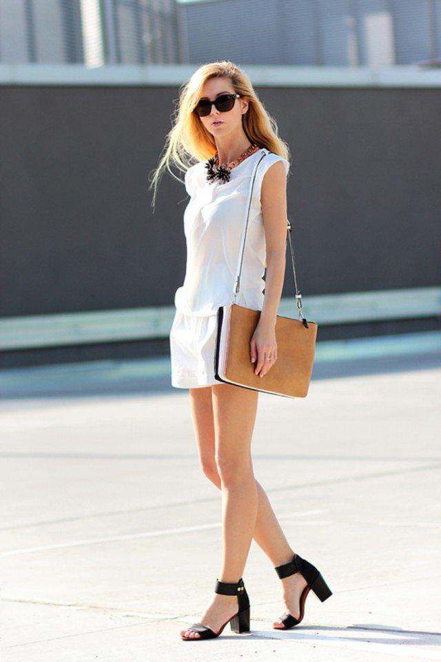 Милая белая идея одежды для лета