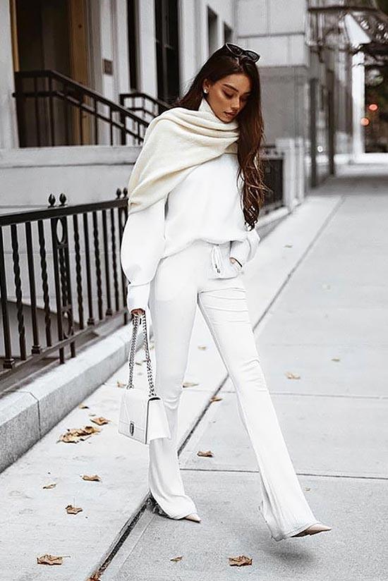 образ в белом цвете для зимы