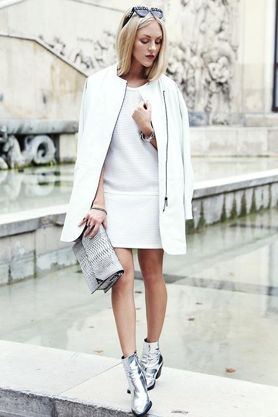 белое платье в белом образе