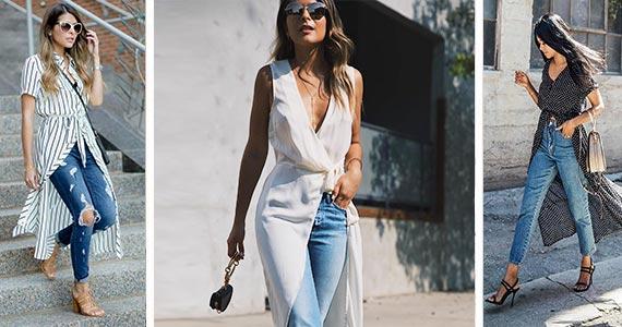платье с джинсами - как носить