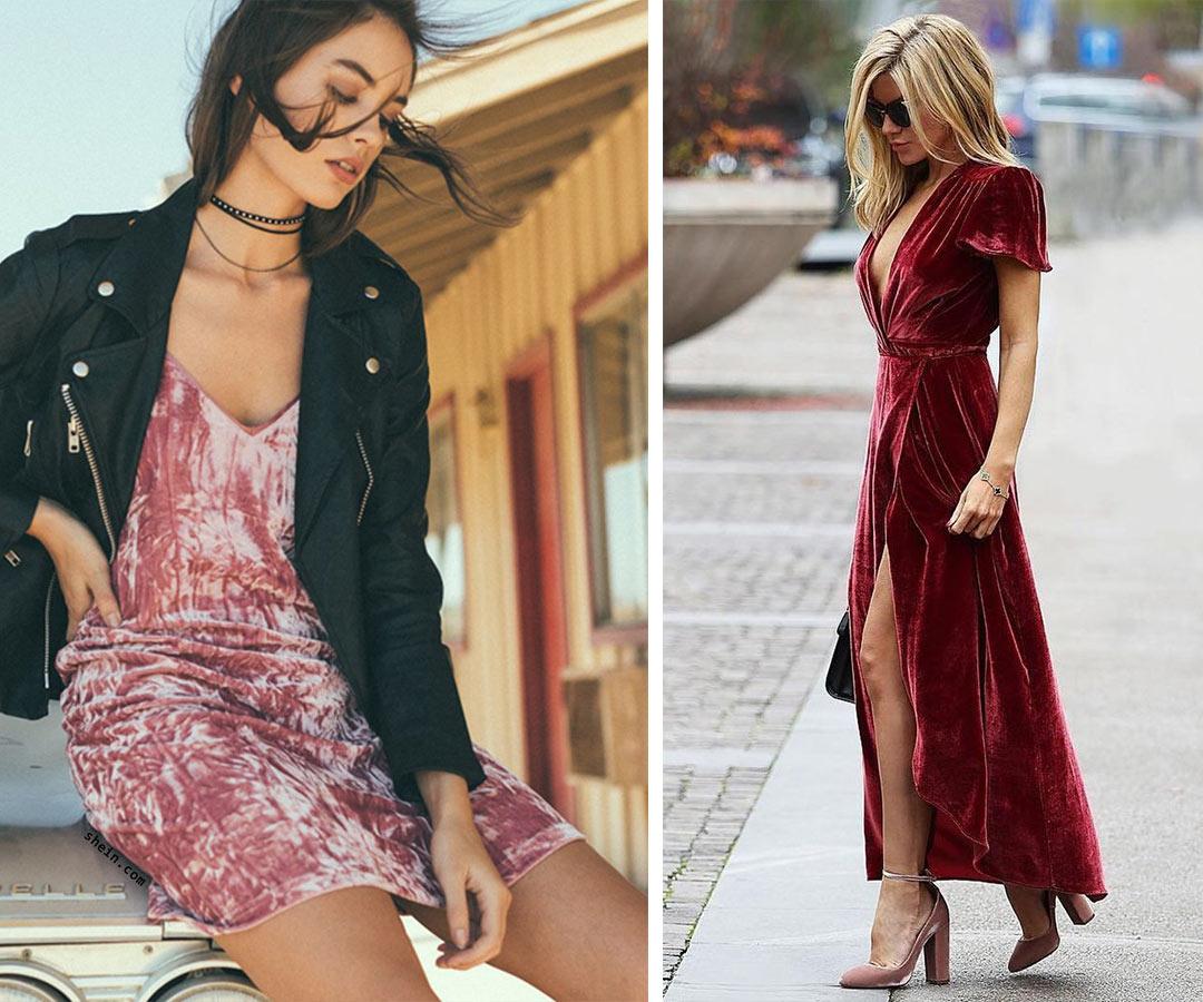бордовое, нежно розовое бархатное платье