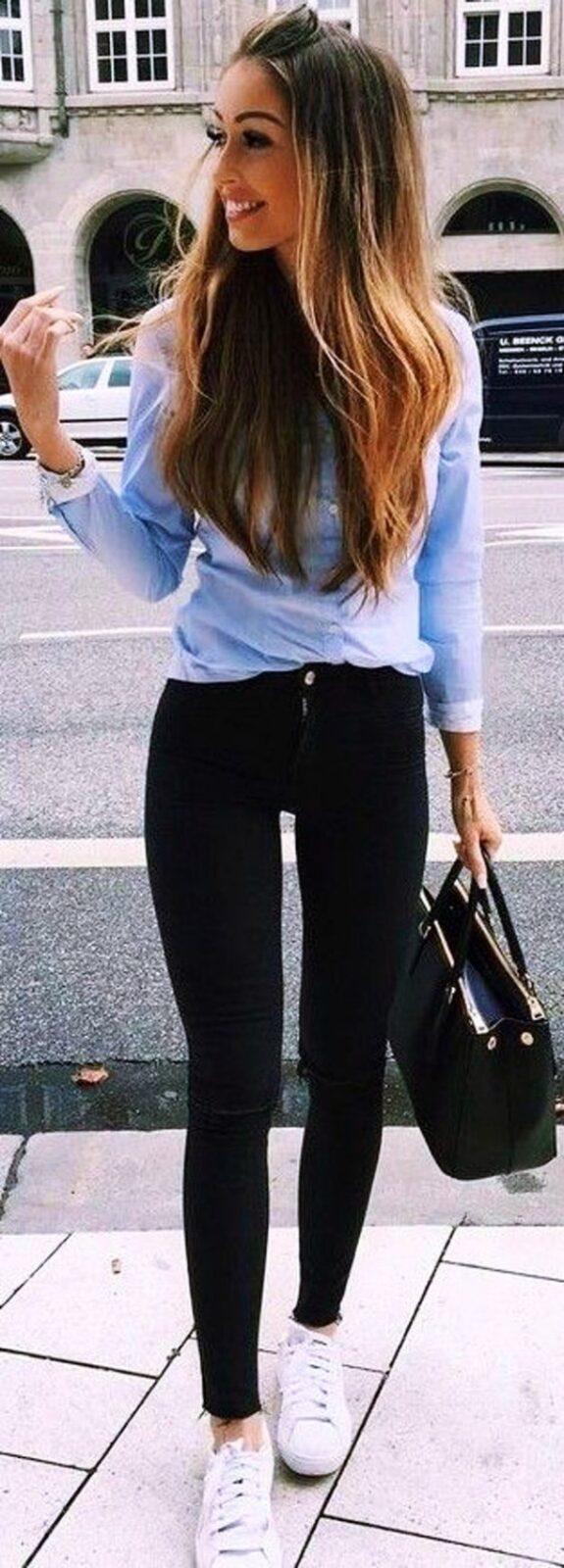 с черными джинсами скинни
