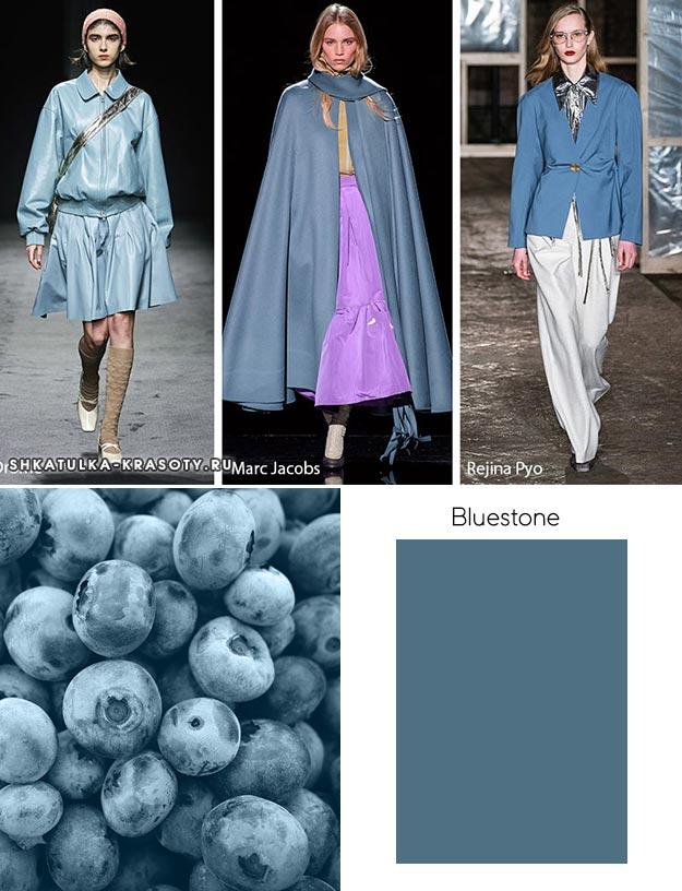 Bluestone (Медный купарос) - модный цвет осень зима 2019 2020