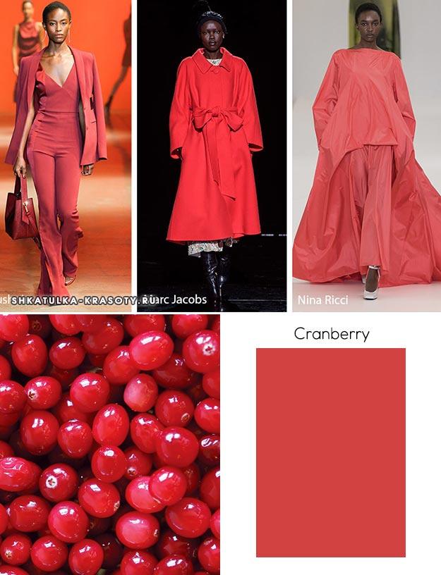 Cranberry (Клюква) - модный цвет осень зима 2019 2020
