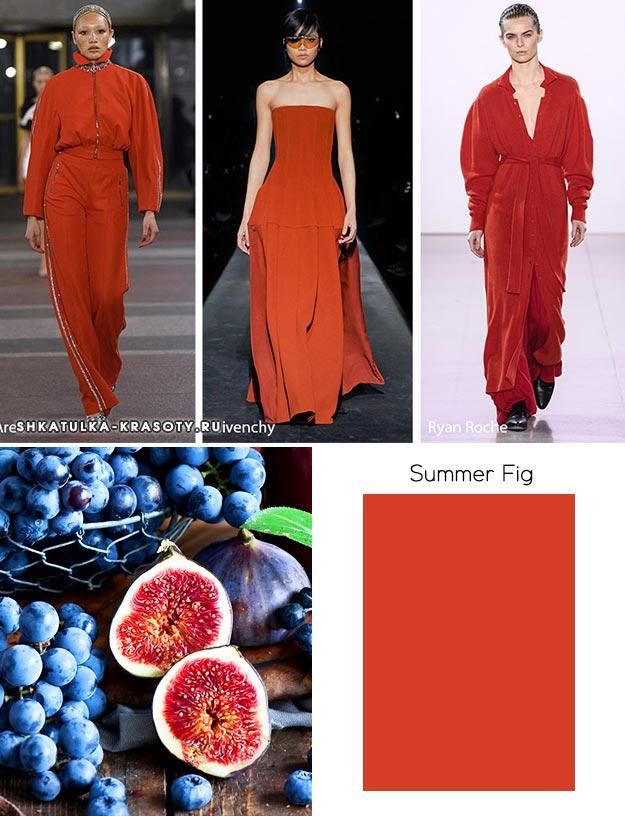 Summer Fig (Летний инжир) - модный цвет осень зима 2019 2020