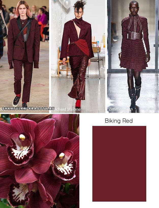 Biking Red - модный цвет осень зима 2019 2020