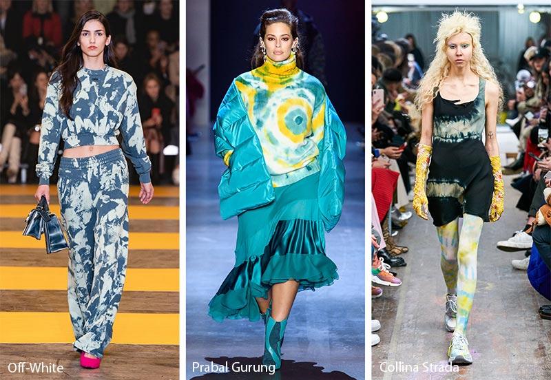 Модные принты осень-зима 2019-2020: узоры Tie-Dye