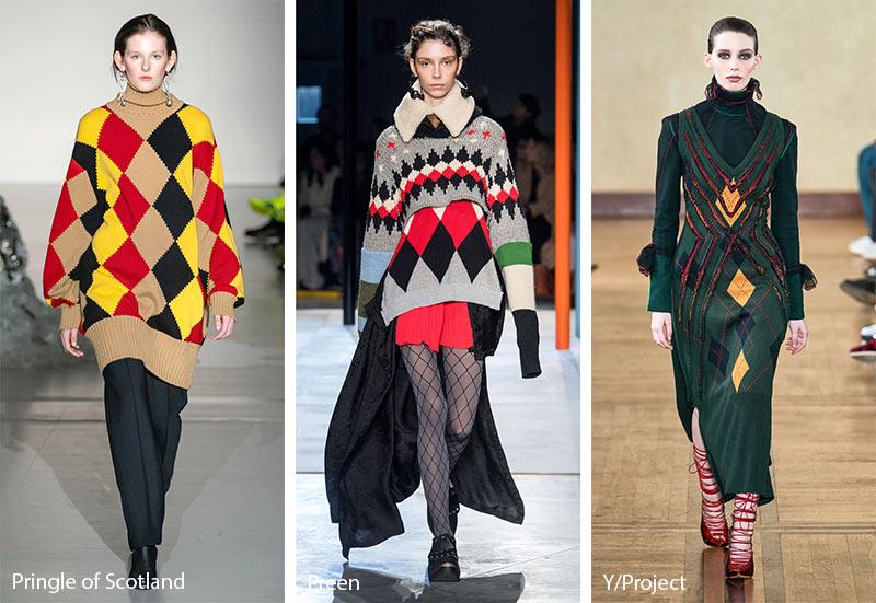 Модные принты осень-зима 2019-2020: Узоры Аргайл
