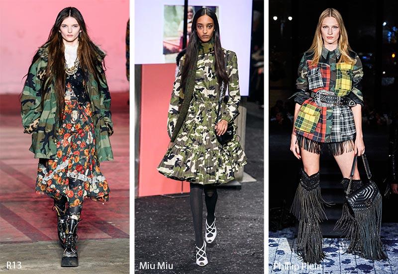 Модные принты осень-зима 2019-2020: камуфляж