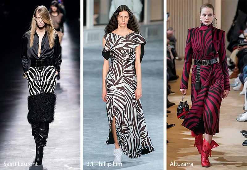 Модные принты осень-зима 2019-2020: полоски зебры