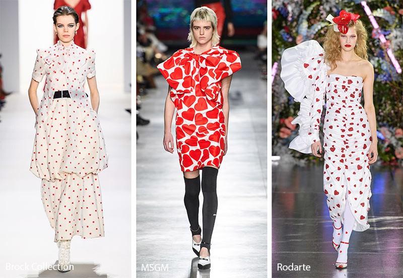 Модные принты осень-зима 2019-2020: узоры сердца