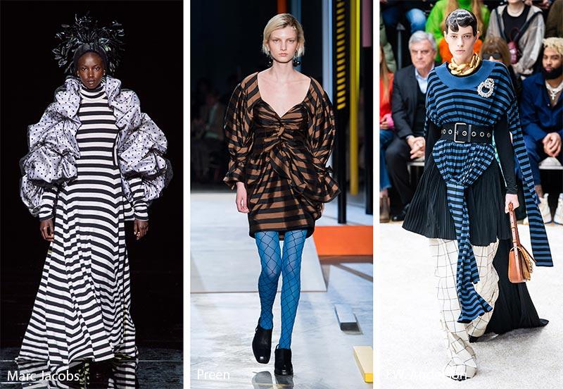 Модные принты осень-зима 2019-2020: горизонтальные полосы