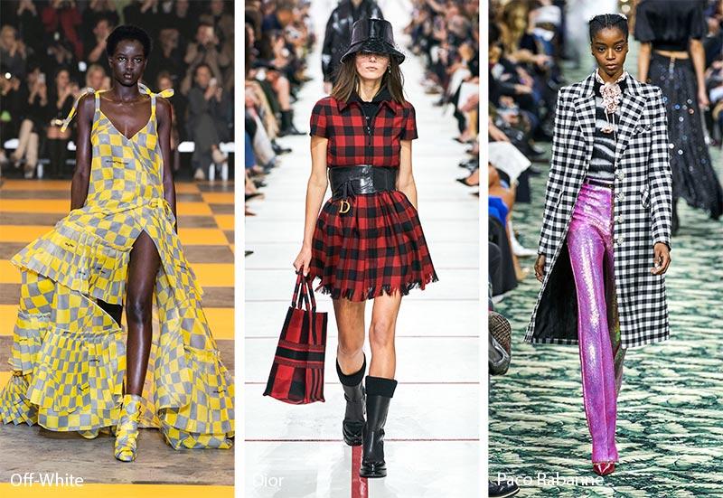 Модные принты осень-зима 2019-2020: клетчатые и пестротканые узоры