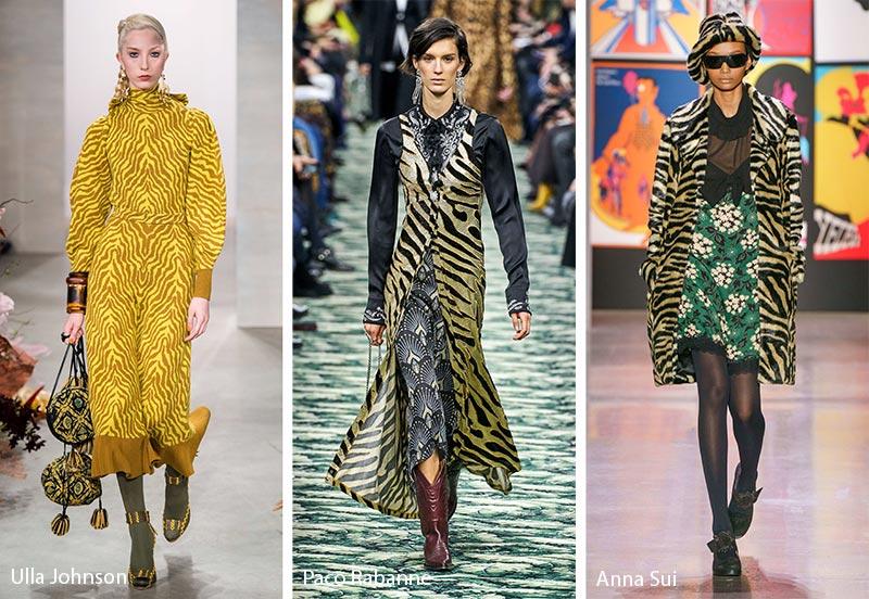 Модные принты осень-зима 2019-2020: тигровые полоски