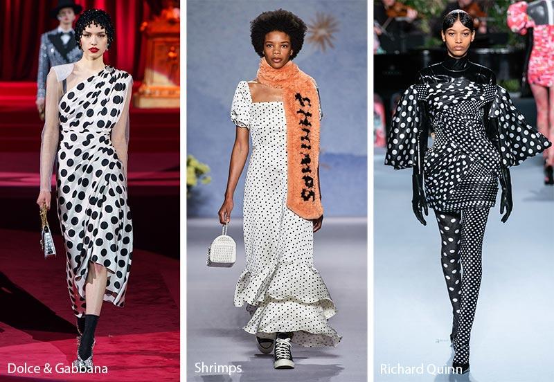 Модные принты осень-зима 2019-2020: горошек