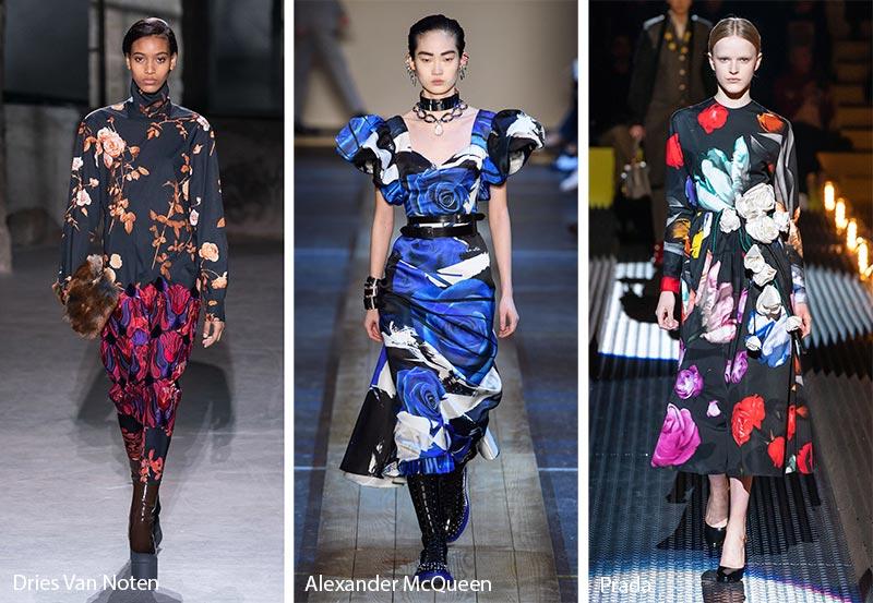 Модные принты осень-зима 2019-2020: реалистичные цветочные узоры