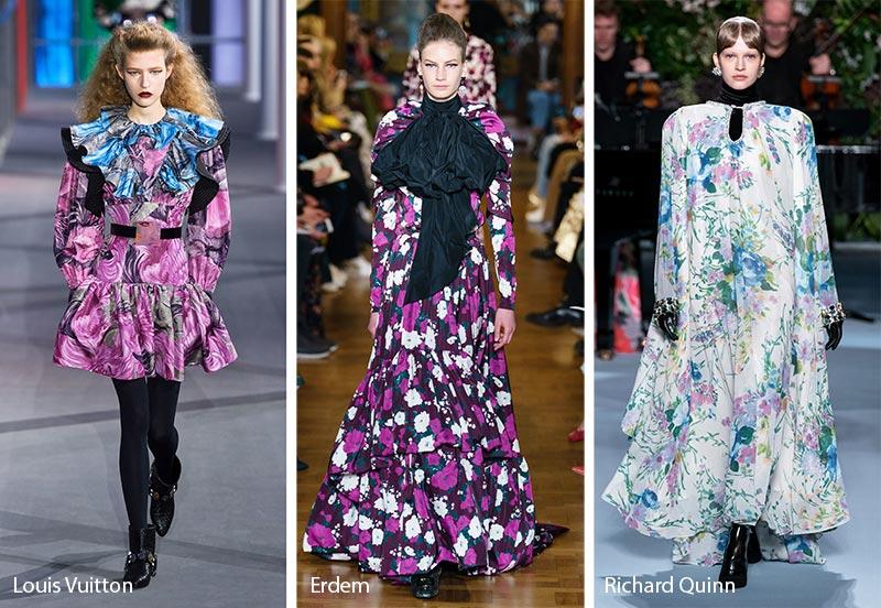 Модные принты осень-зима 2019-2020: интенсивные цветочные узоры