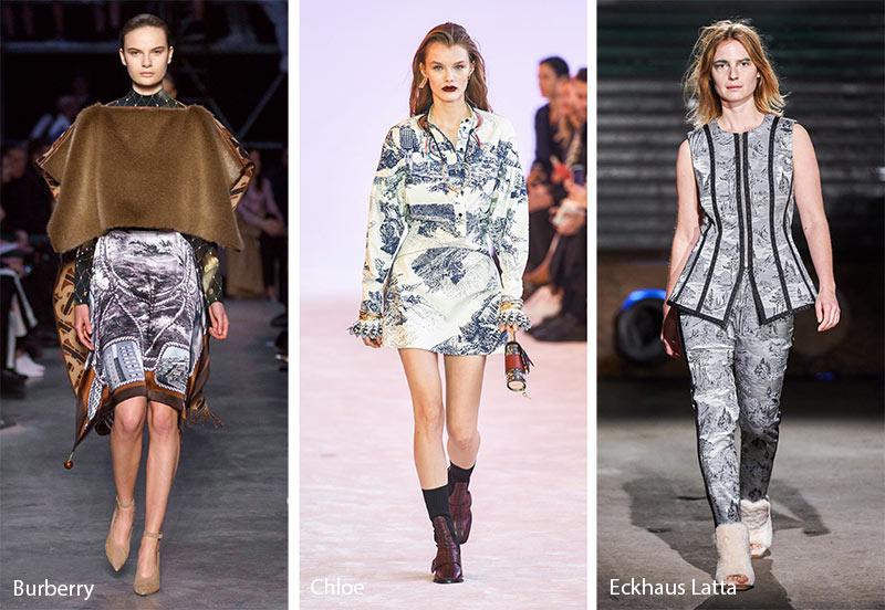 Модные принты осень-зима 2019-2020: пейзажные узоры