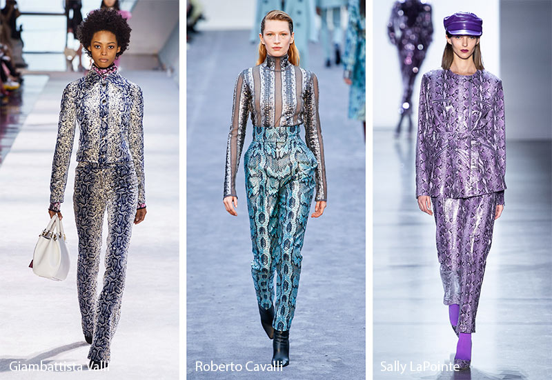 Модные принты осень-зима 2019-2020: змеиные узоры