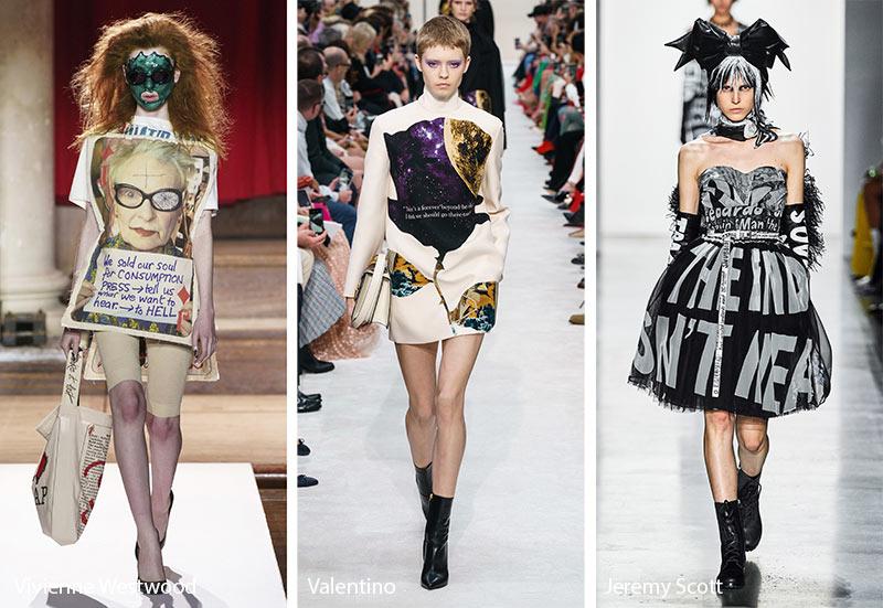 Модные принты осень-зима 2019-2020: лозунги и фразы