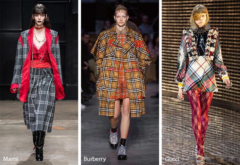 Модные принты осень-зима 2019-2020: узор в клетку, шотландка, тартан