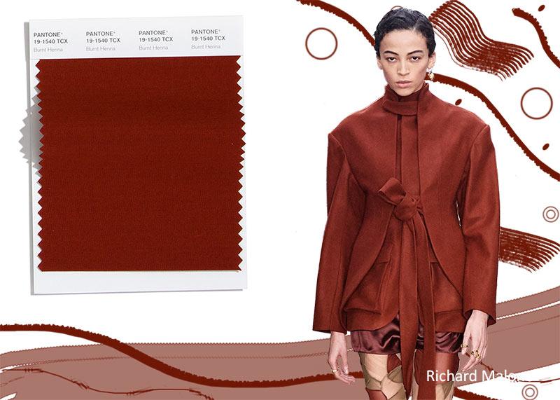 Pantone осень / зима 2020-2021 Цветовые тенденции: сгоревшая хна