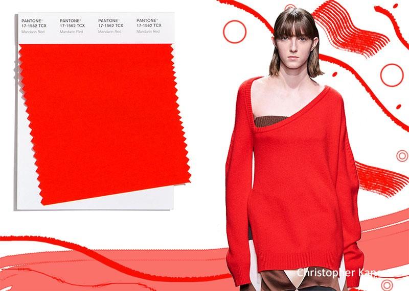 Модные цвета осень-зима 2020-2021 красный мандарин