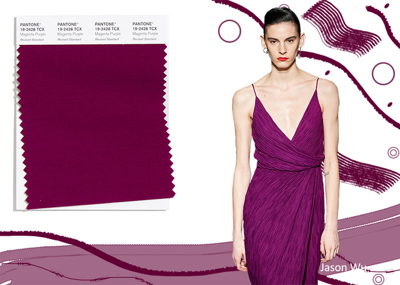 Модные цвета осень-зима 2020-2021 в одежде Pantone осень / зима 2020-2021 Цветовые тренды: пурпурно-фиолетовый