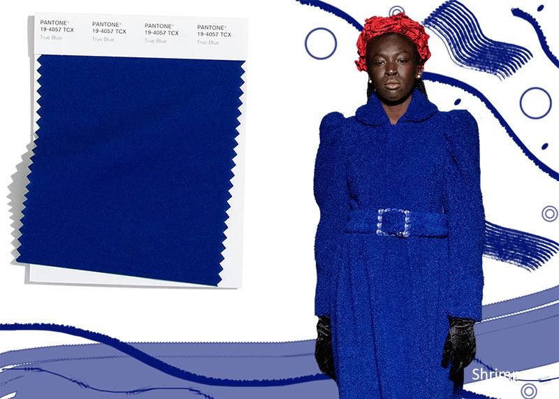 Модные цвета осень-зима 2020-2021 Pantone True Blue