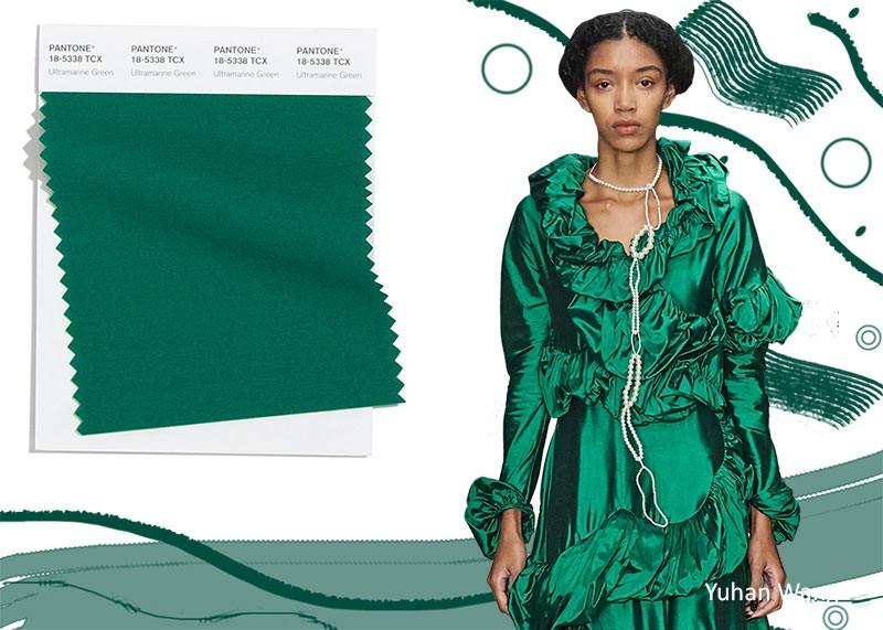 Pantone осень / зима 2020-2021 Цветовые тренды: ультрамарин зеленый