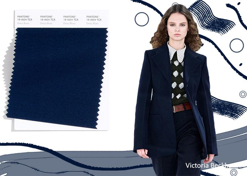 Модные цвета осень-зима 2020-2021 платье блюз