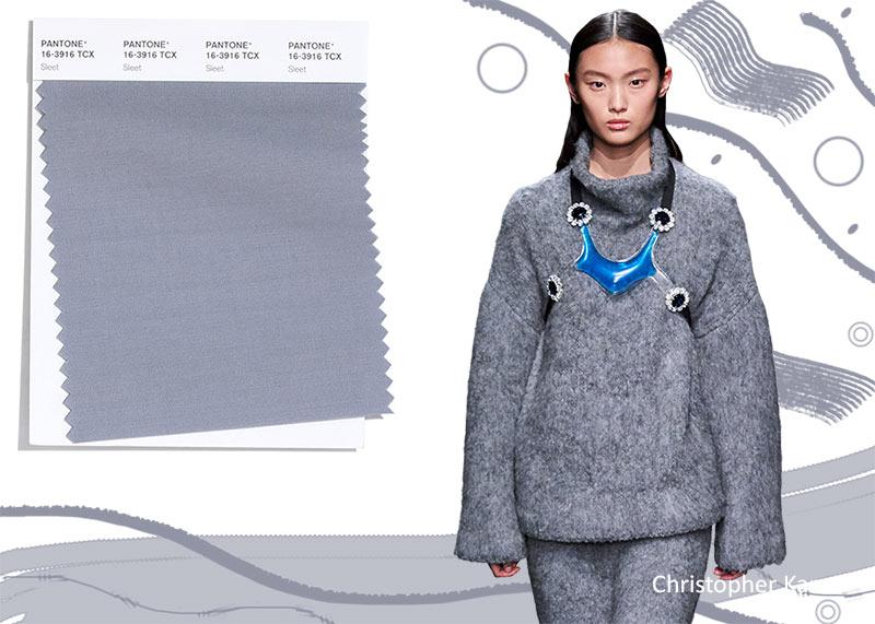Модные цвета осень-зима 2020-2021 в одежде, мокрый снег