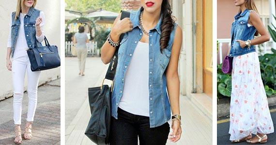 джинсовая жилетка - с чем носить