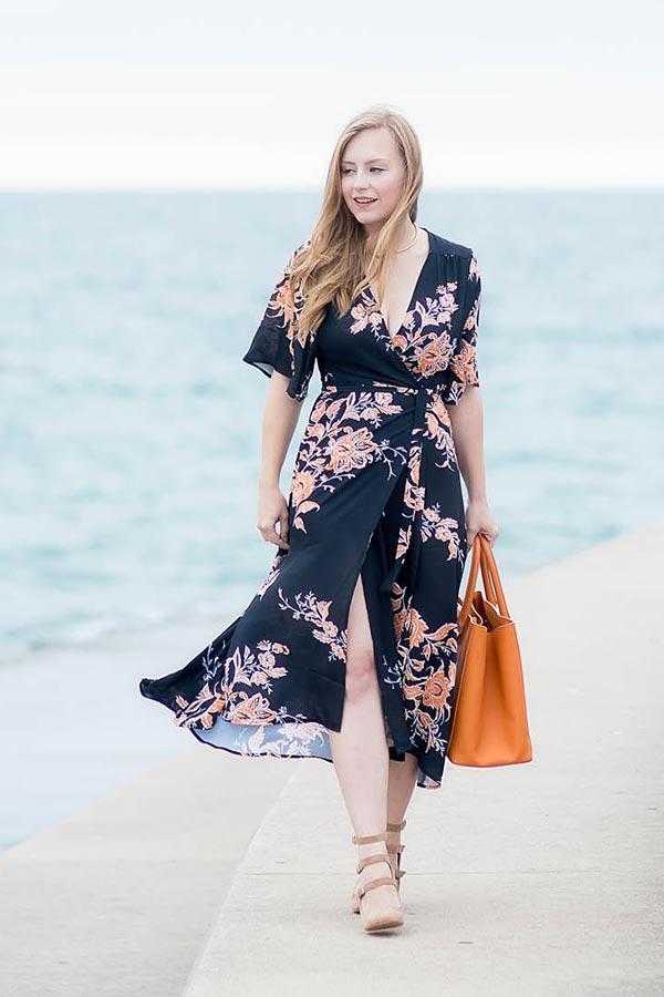 темное кимоно носить как платье