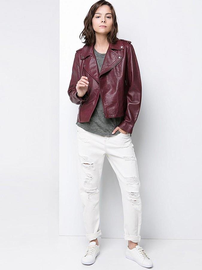 с белыми джинсами
