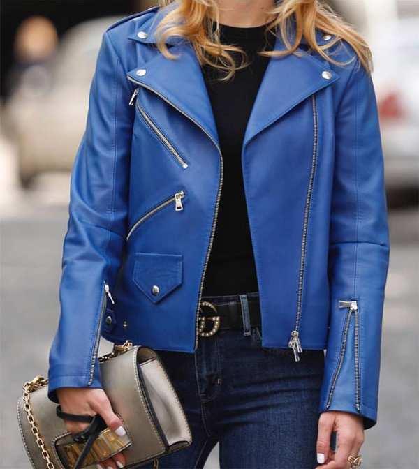 сумка и пояс в образе с курткой