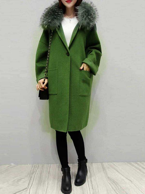 пальто оливкового оттенка и полусапожки