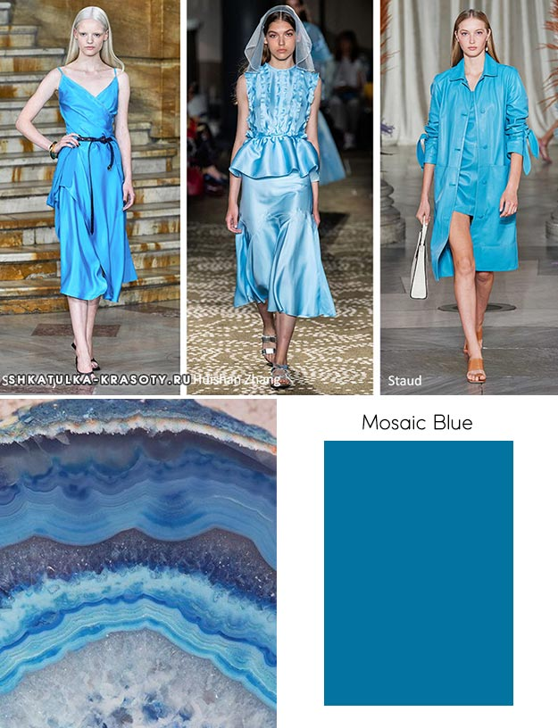 модный цвет весны лета 2020 Mosaic Blue (Мозаичный синий)