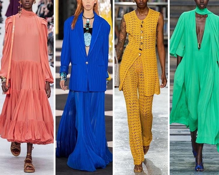 Модные цвета весна-лето 2020 в одежде