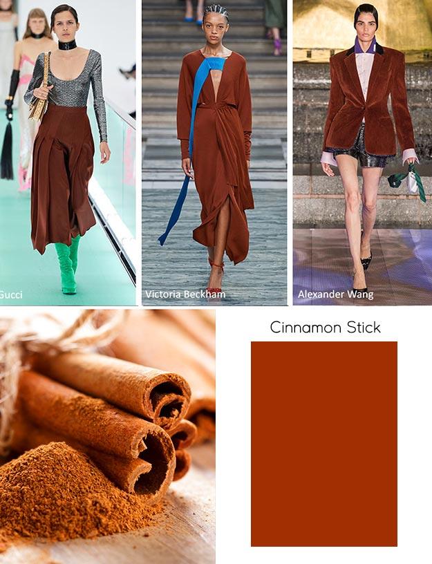 модный цвет весны лета 2020 Cinnamon Stick (Палочка корицы)