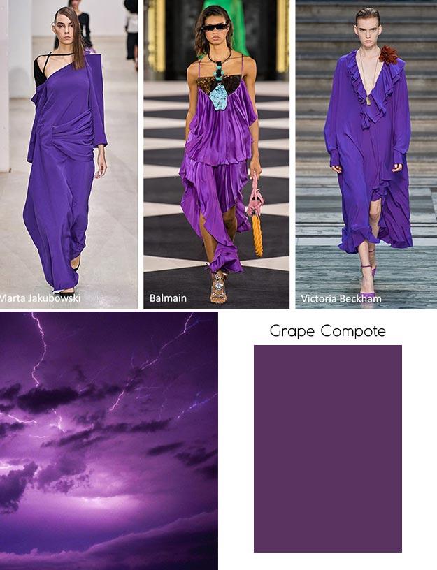 модный цвет весны лета 2020 Grape Compote (Виноградный компот)