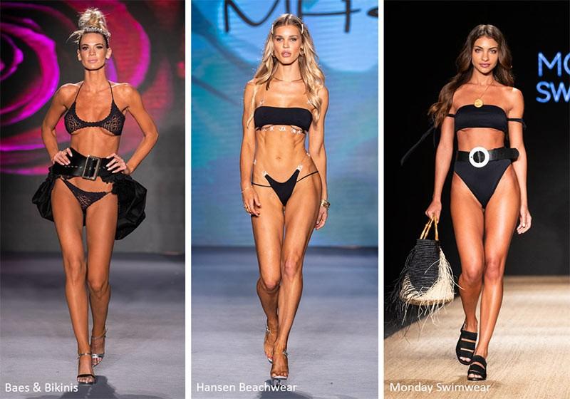 Модные купальники 2020 Черные бикини
