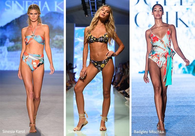 Модные купальники 2020 Кокетливые цветы