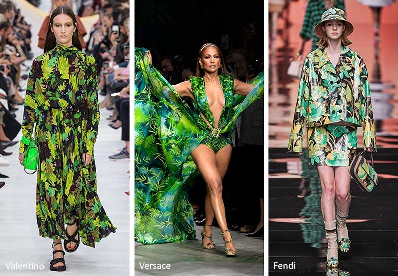 Модные принты весна-лето 2020 в одежде Цветочный Тропический (Floral Tropical)