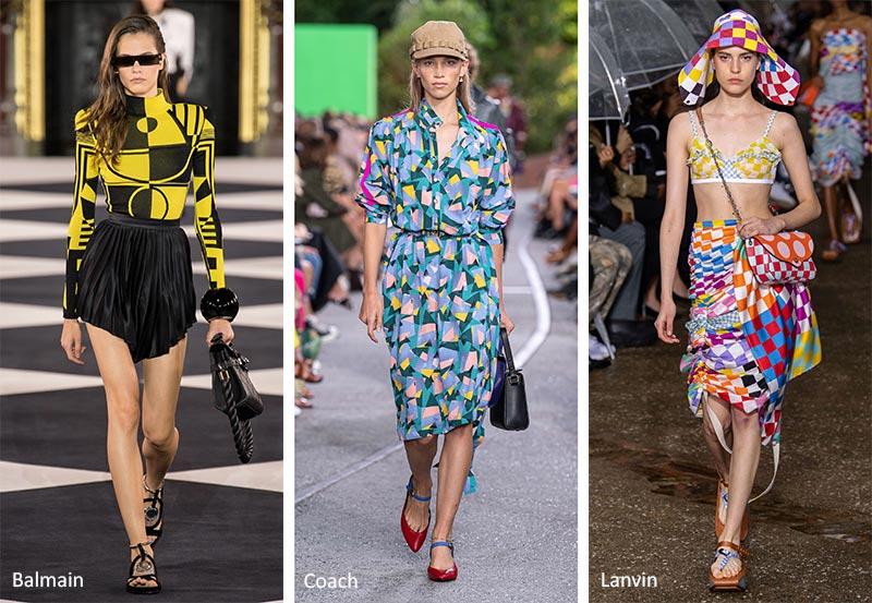Модные принты весна-лето 2020 в одежде Геометрические узоры (Geometric Patterns)