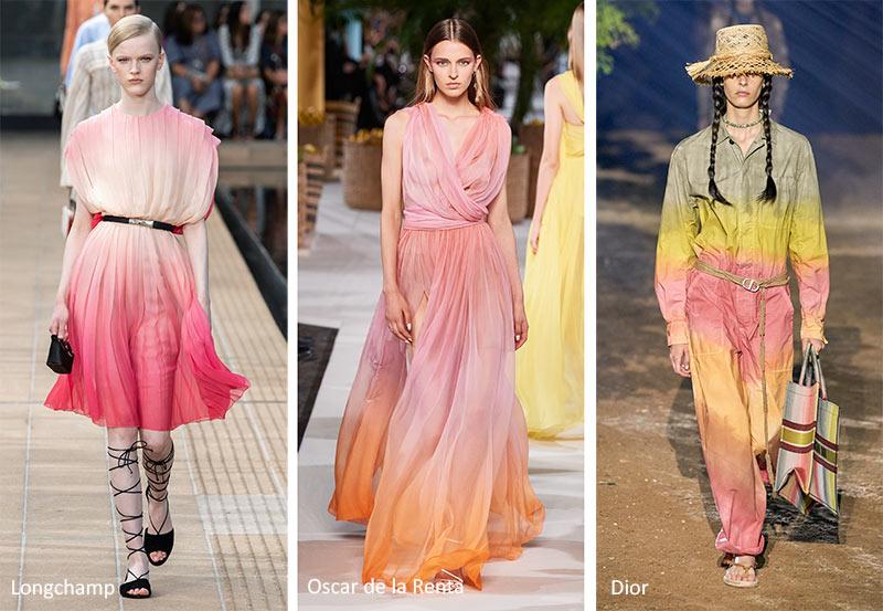 Модные принты весна-лето 2020 в одежде Грациозные градиенты (Graceful Gradients)