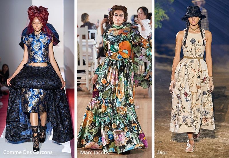Модные принты весна-лето 2020 в одежде Вышитые цветы (Embroidered Florals)