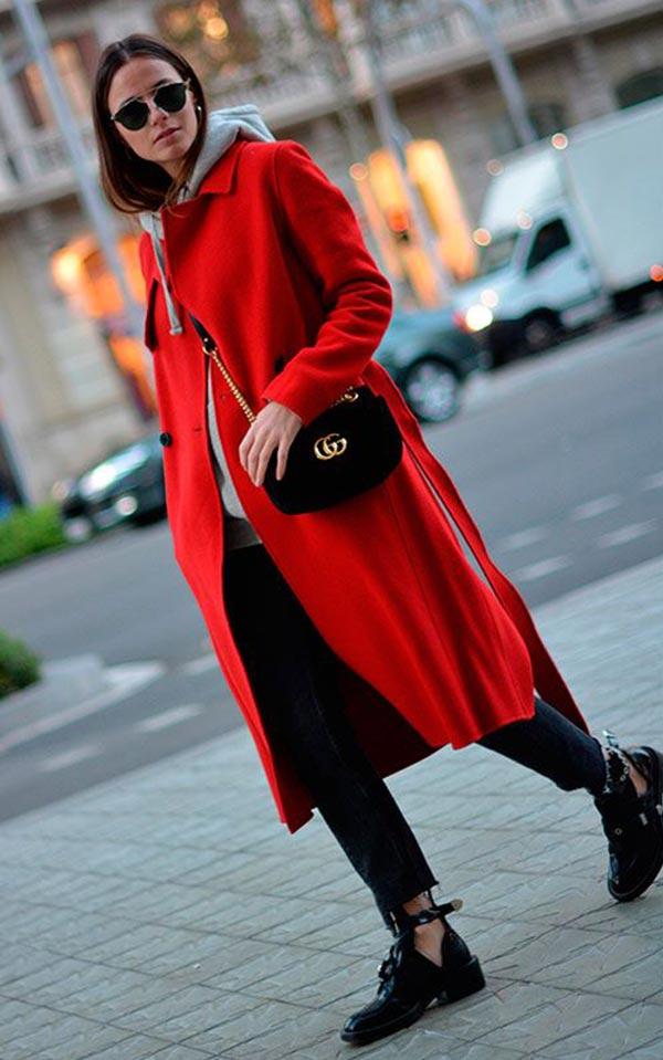 подбираем обувь под красное пальто