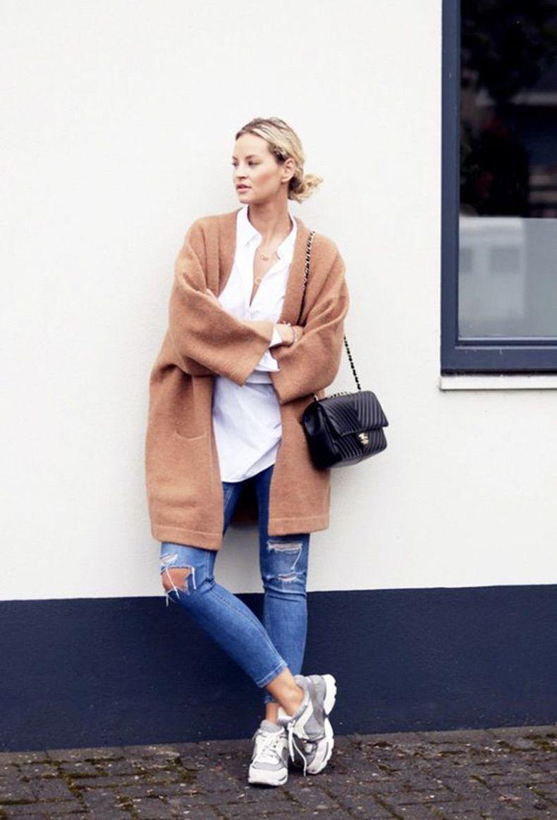 20 образов с коричневым пальто (camel)